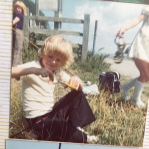 Mark Starr aged 8, by the canal in Hamstreet, Kent.