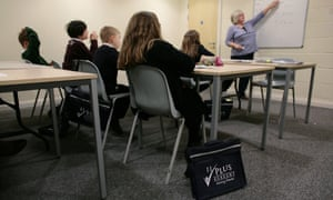Children being coached for the 11-plus exam