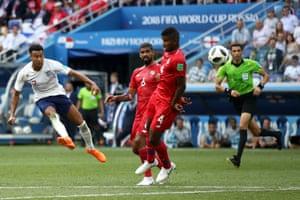 Lingard scores England's third.