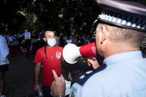 protesters police sydney