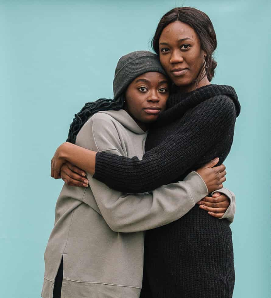 Faith Adikpe and Judith Edhogbo hug