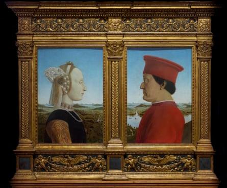 The Duke and Duchess of Urbino, circa 1475, by Piero della Francesca.