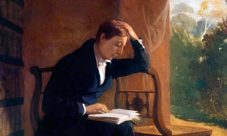 John Keats, portrait by Joseph Severn, c1821-1823.