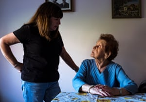 Edith Gluck, aged 92 and her daughter Deena Shachter. Originally from Romania, now living in Melbourne, Australia, Edith will be travelling to Poland for the anniversary of the liberation of Auschwitz