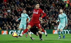 Roberto Firmino's no-look finish for Liverpool's opening goal.