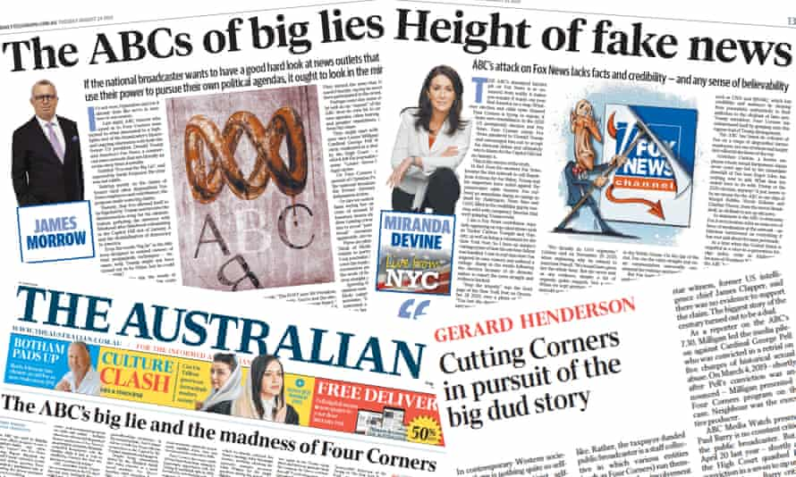 Murdoch papers on an episode of ABC Four Corners