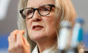 Sally Potter speaks at the Berlin film festival.