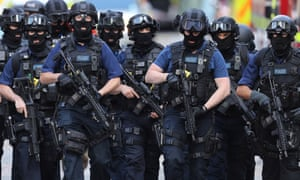 Counter-terrorism officers the day after the London Bridge terror attack in June