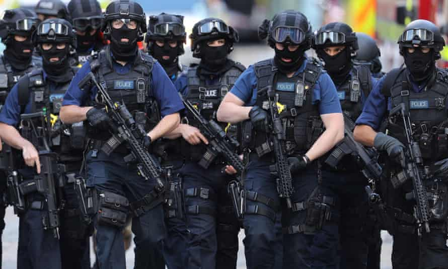 Armed counter terrorism officers after the London Bridge attack.