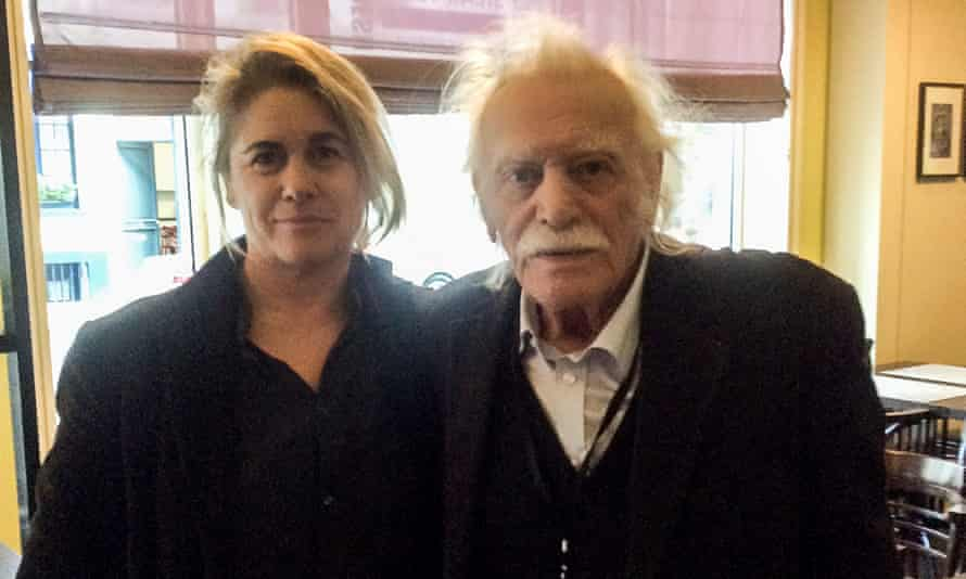 Helena Smith meeting the Greek second world war hero and symbol of resistance Manolis Glezos.