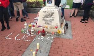 A vigil in Aylesham for Lucas Dobson