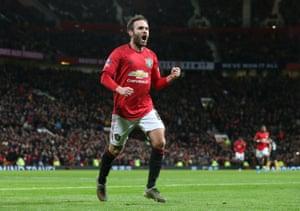 Mata celebrates.