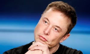Elon Musk at a SpaceX press conference, February 6, 2018.