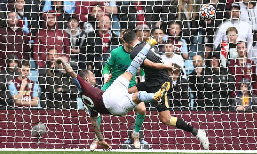 Aston Villa's Danny Ings scores a spectacular goal against Newcastle United last weekend, set up by teammate Tyrone Mings.