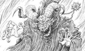 The Gloamglozer in The Edge Chronicles by Paul Stewart and Chris Riddell.