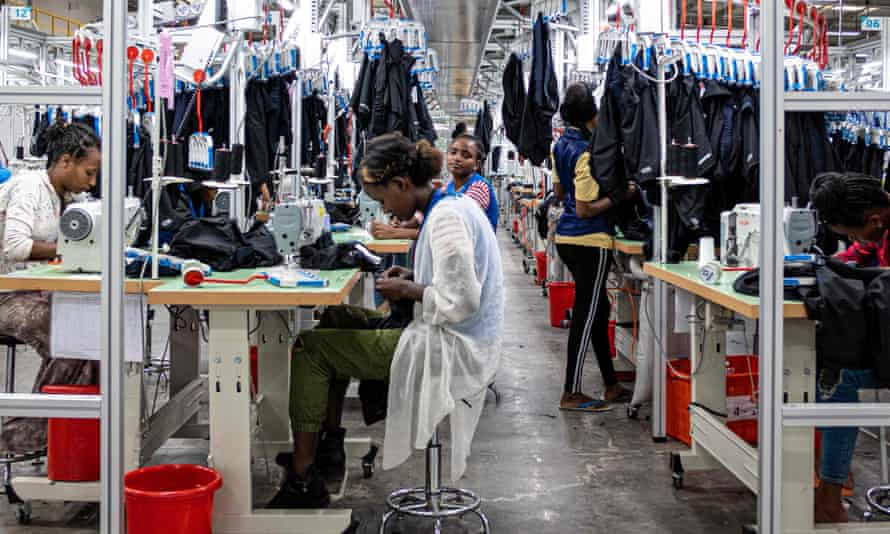 Workers in a garment factory in Hawassa, southern Ethiopia. Of the 74 million textile workers worldwide, 80% are women of colour.