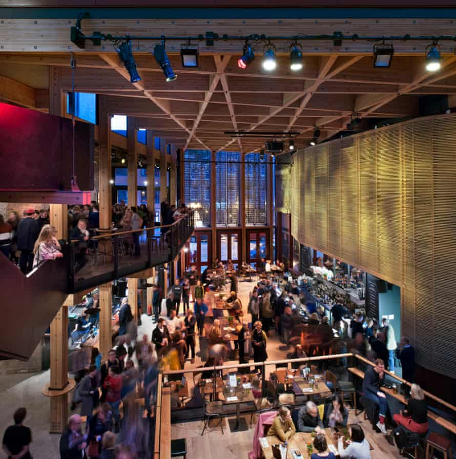 The new foyer is 'like a city square', says Steve Tompkins of Haworth Tompkins