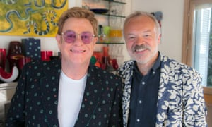 Elton John and Graham Norton in Elton John: Uncensored.