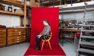 Susan Hiller in her studio in London, 2015.