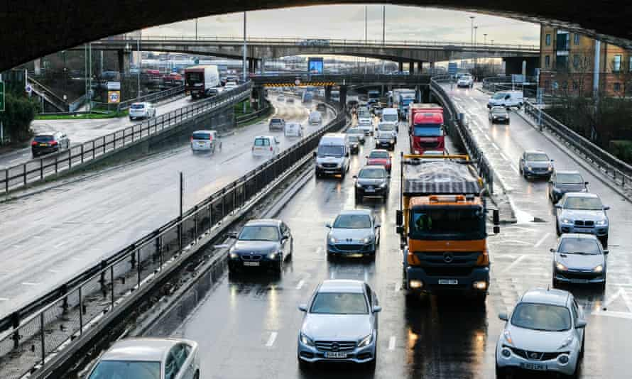 Traffic at Brent Cross on the North Circular road.