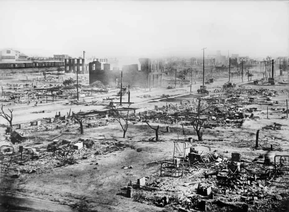Greenwood, Tulsa, after the Tulsa race massacre in 1921