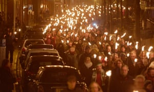 An estimated 10,000 people marched during a rally against gas extraction in Groningen, Netherlands, earlier this month.