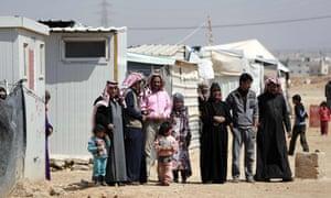 Families in the Zaatari refugee camp