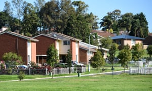 General view of public housing at Rosemeadow in the south west of Sydney.