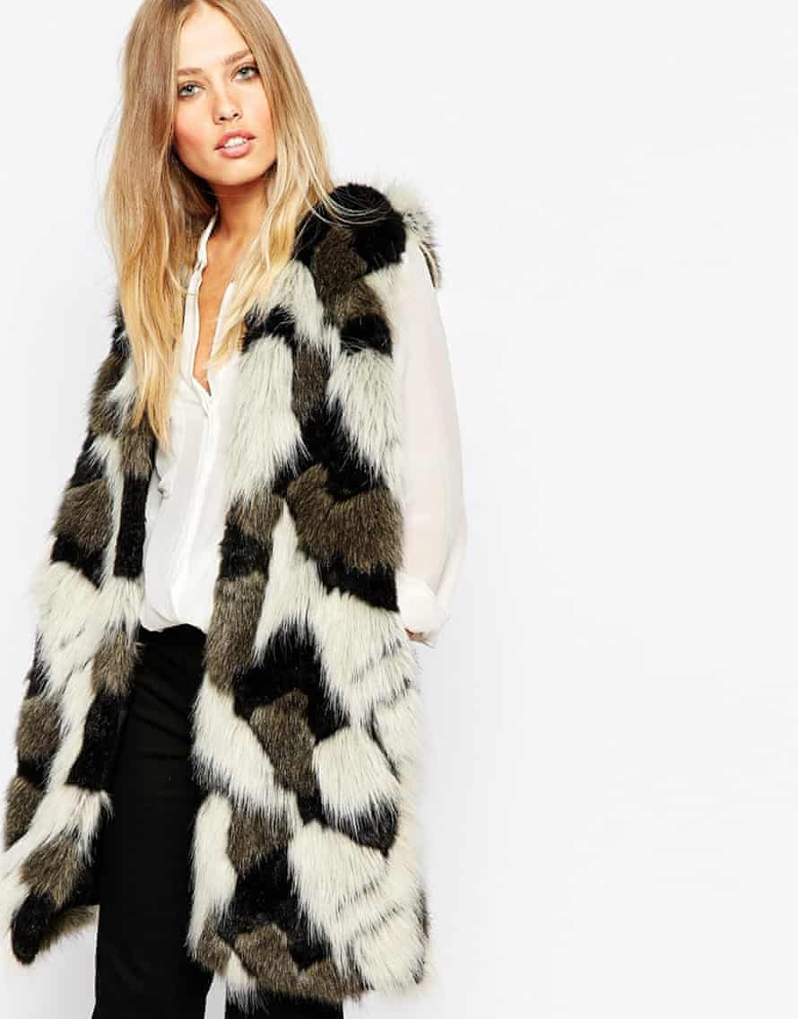 Whistles Patchwork Faux Fur Gilet, £195.