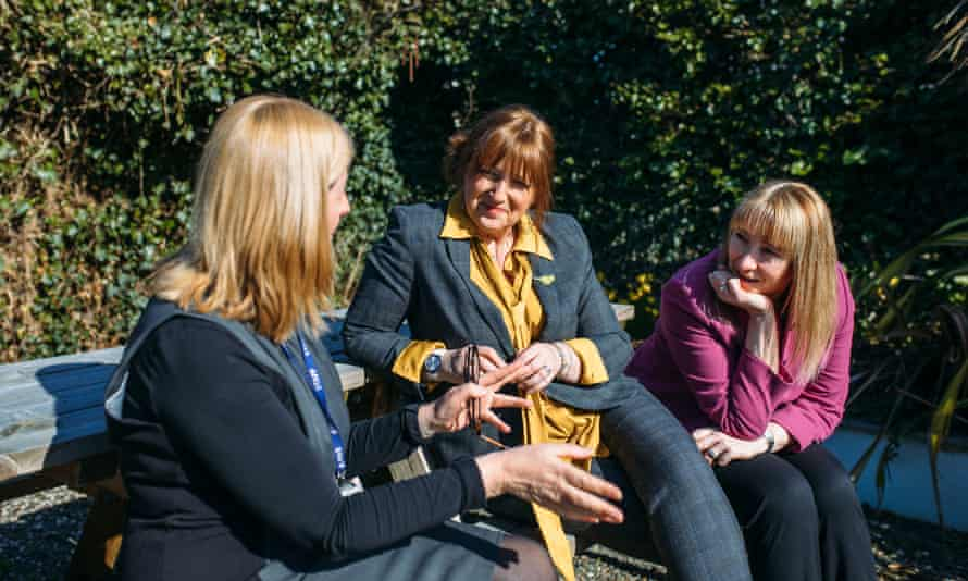 Left to right: Budehaven's integrated health centre manager Lizzie Brock, headteacher Tracey Reynolds and the headteacher of Wadebridge school, Tina Yardley.