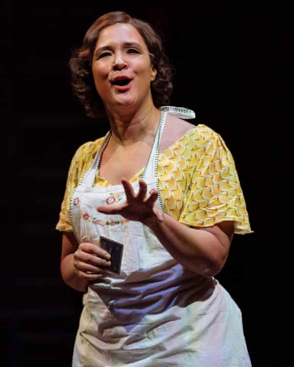 Fierce-willed agitator ... Golda Rosheuvel in The American Clock.