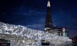 Chris Ofili's 'Invisible Ripples' on London Bridge, part of a proposal by architect David Adjaye.