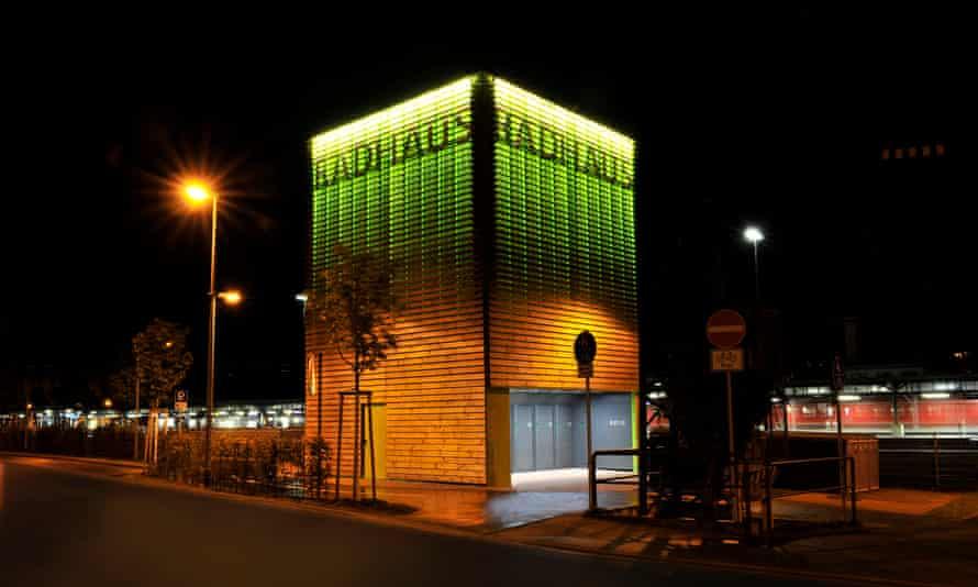 The Radhaus bike tower