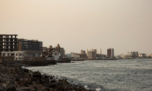 The remains of the port city of Aden on 8 September, 2019.