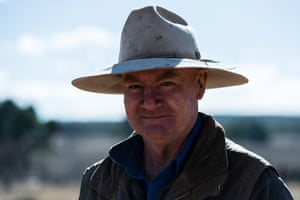 Abrose Doolan is pictured on his farm outside Coonabarabran.