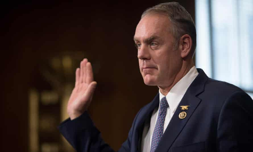 Ryan Zinke insisted he wasn't 'a climate science expert'.