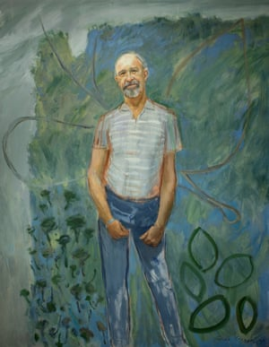 Guy Warren won the Archibald Prize with this portrait of his friend, neighbour and fellow artist Bert Flugelman. It was Warren's first foray in the Archibald Prize. In 2021, both Warren and the Archibald Prize are celebrating their 100th birthdays.Oil on canvas (1985)