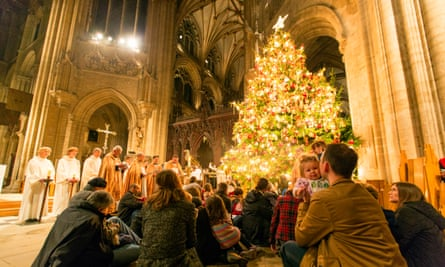 The carol service at Ely Cathedral.