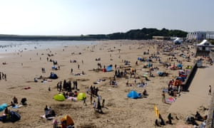Barry Island, south Wales, on Sunday.