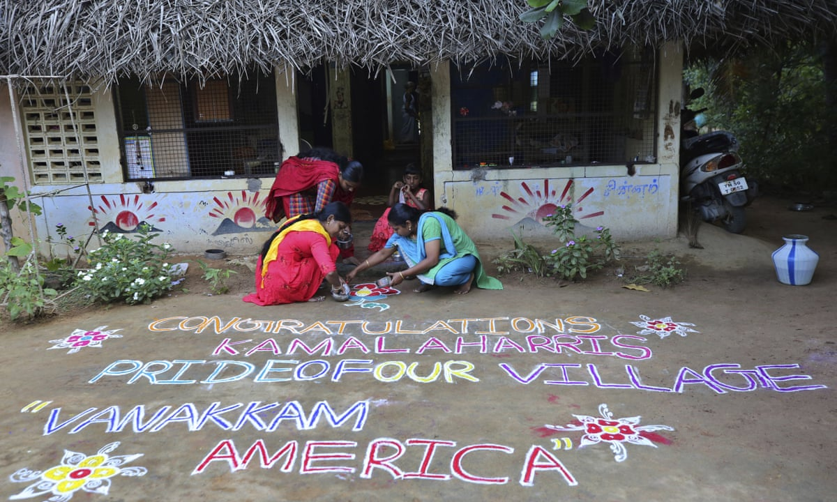 Kamala Harris Joy In South India At Victory For Daughter Of Our Village Us News The Guardian