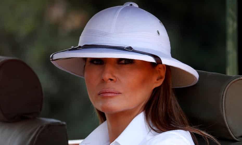 Melania Trump on safari in Kenya