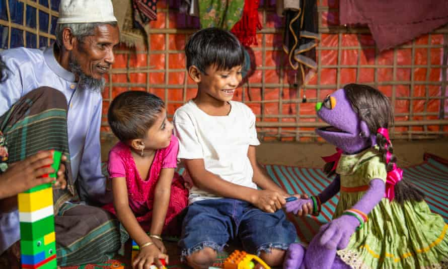 The Muppet twins will join regular Sesame Street characters in refugee camp videos