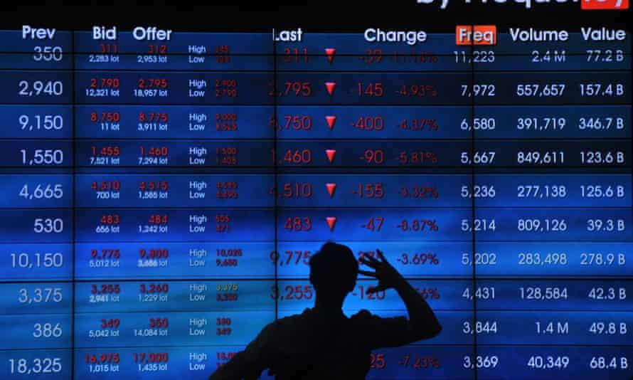 China stock market boards