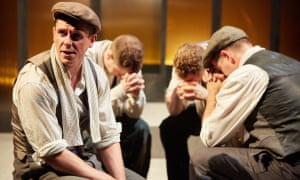 Taking shelter … James Wallwork in Operation Crucible.