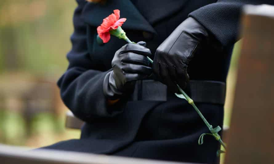 funeral woman flower
