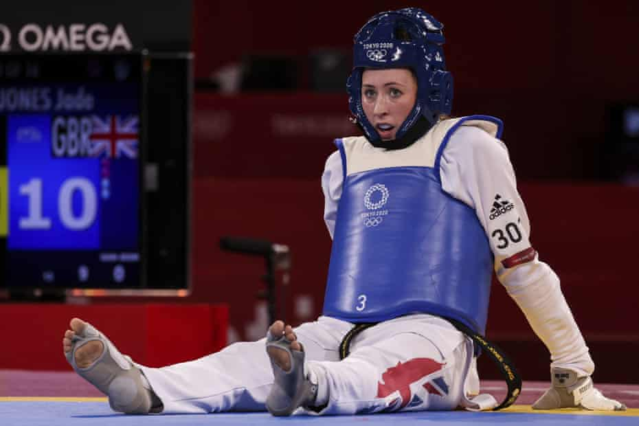 Defending British taekwondo Olympic champion Jade Jones goes out in the first round, Olympic Games Tokyo, Japan, 25 July 2021