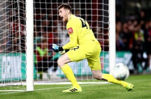 Mark Travers wins the game forb The Cherries after saving three penalties.