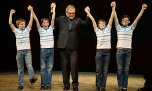 Sir Elton John and four Billy Elliots