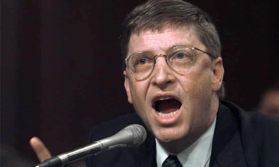 Bill Gates testifies on Capitol Hill, 3 March 1998.