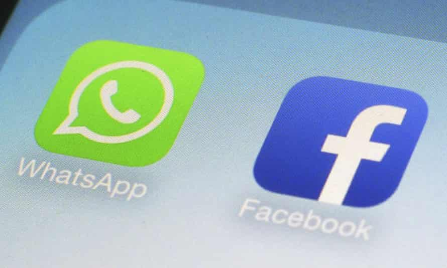 the WhatsApp and Facebook icons